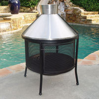 Outdoor Stainless Steel Dome Fireplace