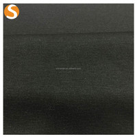 soft touch solid factory price polyester spandex knit fabric 1*1 rib