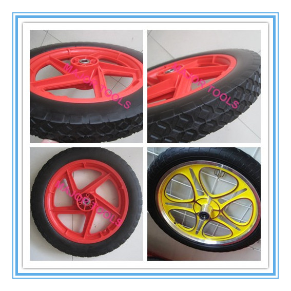 Pu 12 inch plastic 5 spoke bicycle/bike wheel