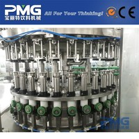 Glass bottle wine / carbonated drinking filling machine with automatic pneumatic valve