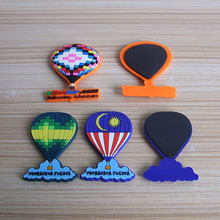 Fire balloon shape with custom different design pvc fridge magnets for Malaysia balloning adventures