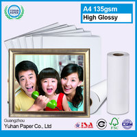 wholesale waterproof high glossy inkjet printable photo paper with silk cast coated