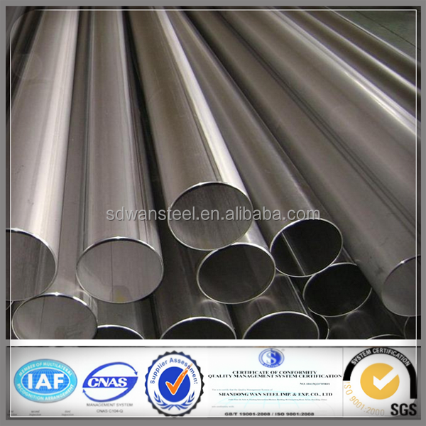 Shock Price Welded Type and 400 Series Steel Grade 304 tubos de aceros inoxidable