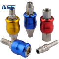 color aluminum shell quick disconnect coupling air tools quick connect coupler fittings