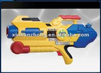 yellow & blue mixed super pump water gun plastic water gun