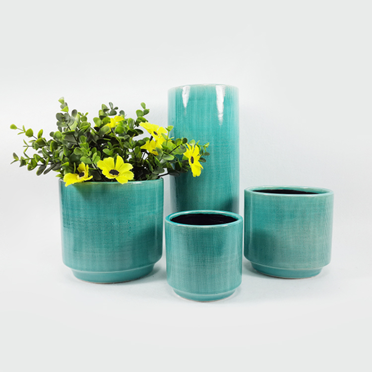 Factory price garden ceramic flowerpot home goods flower pots succulent plant pot