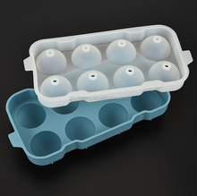 2017 NEW Best Selling With Good Quality Wholesale 8 Holes Silicone Ball Shaped Ice Cube Tray