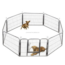 Factory Price Pet Exercise Pen Tube Gate 8 Panel Playpen Galvanized Used Chain Link Fence for Protecting Pets Dog Crate Kennel