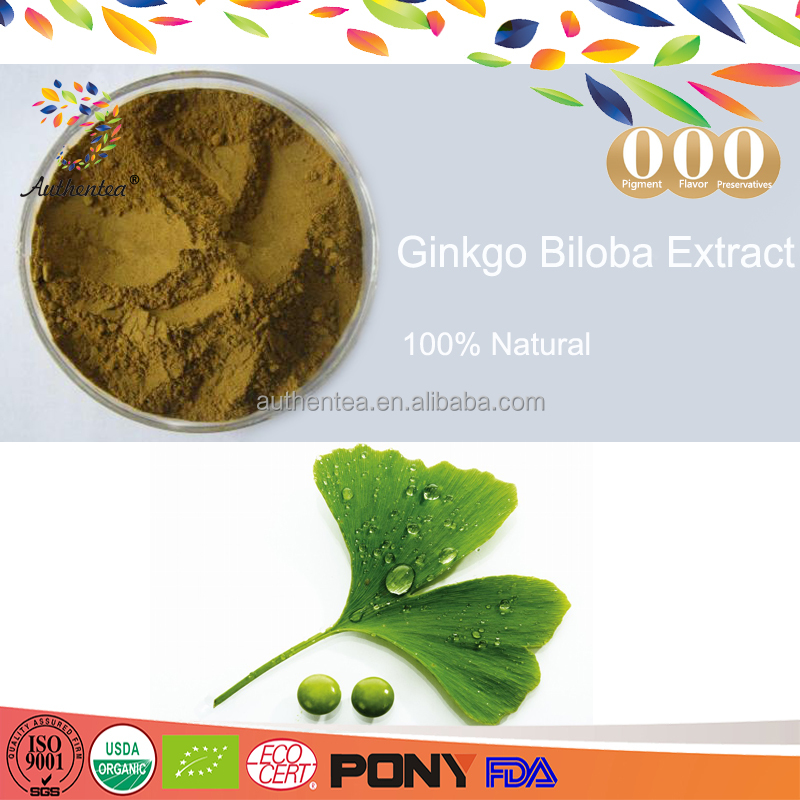 Hot sale100% Natural Ginkgo flavone glycosides > 24% Total terpene lactone>6% Ginkgo biloba leaf Extract