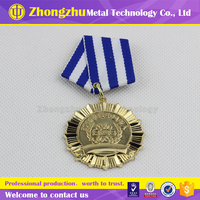 Customized Sport Running Medal/Zinc alloy gold sports medal/ 3D Silver metals medal with ribbon