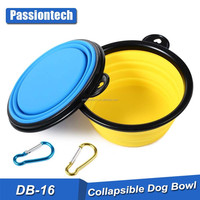 Collapsible Dog Bowl for Dog Food and Water. Foldable, Portable and Food Safe Travel Bowl. Passiontech Travel Mate Bowl