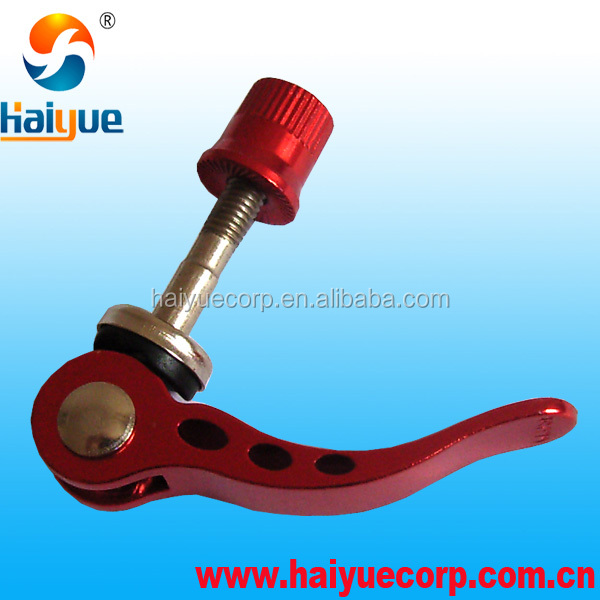 China factory alloy bike M6 seat clamp quick release