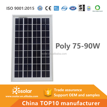 PV module factory flexible poly crystalline 80w solar panel