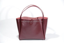 Leather Material Tote Fashion Baby Diaper Nappy Bag with Private label