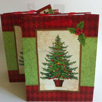 LM-4062 christmas ornaments cost production china diecut handle paper bag