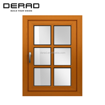 Double-glaze Wood Aluminium Casement Window Inward Factory supplied