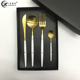 High Grade Stainless Steel White Handle Gold Plated Cutlery Set with Gift Box Packing