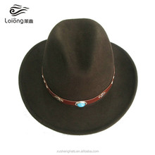 australian cheap womens wool felt promotional light up cowboy hat