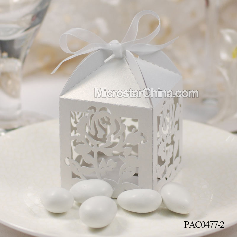 New Products Ivory Loving Couple Bride & Groom Laser Cut Wedding Birthday Favor Candy Girl Boxes