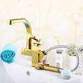 FLG classic Bathroom royal brass bathroom luxury golden basin faucets