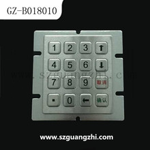 New metal numeric keypad keyboard for ATM machine GZ-B018010