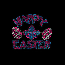 custom happy easter egg rhinestone iron on transfer design for clothing