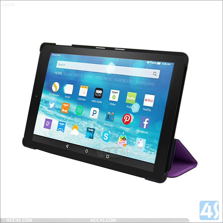 For Amazon E-reader protective sleeve bag, Leather Case Cover Stand For Amazon Kindle Fire HD 8