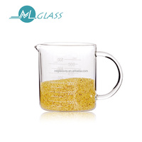 Alibaba china high borosilicate glass measuring cup with spout OEM 500ml