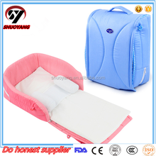 Shuoyang 2016 new design foldable portable durable baby travel carry cot bed bag