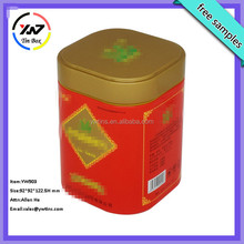 Plain tea tin caddy,high quality tea tin box,gift tea tin box with paper label