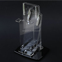 Acrylic Knife and Scissor Display Holder, Clear Acrylic Knife Holder Stand for Kitchen
