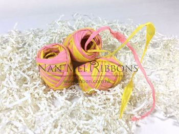 10 meters Double Colors Mixed Ribbon Packaging Rope Paper Raffia