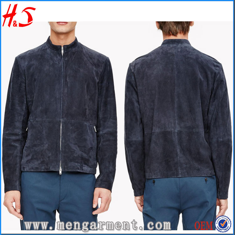 New Arrival Online Shopping Designer Clothes Mens Fur Coat Of Suede Fabric