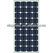 mono crystalline silicon 18V 100w solar panel