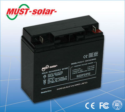 <MUST Solar>Solar Power inverter inside battery 12v battery 180ah