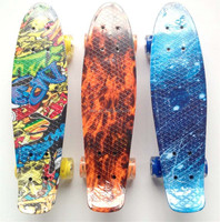 "hot sale 22"" Longboard Komplett graphic transfer printing ABEC7 Cruiser Skate Board MiniCruiser"