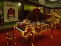 [Chloris] New!!! Luxury home furniture, Gold and walnut Grand Piano
