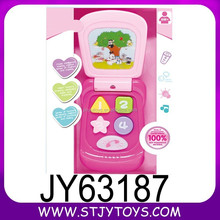 Non-toxic plastic B/O educational baby musical mobile phone toy