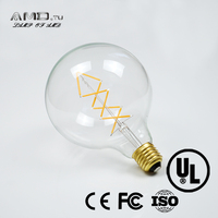 fish filament 6w dimmable ledbulb g125 e27 base 360 degree ce approved home residential