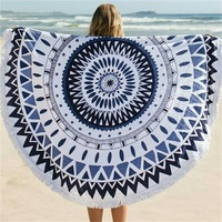 Superfine Fiber Promotional Round Beach Blanket Wholesale