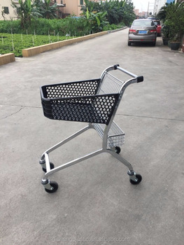 50L Supermarket Shopping Trolley ( Plastic Basket + Chrome Frame )