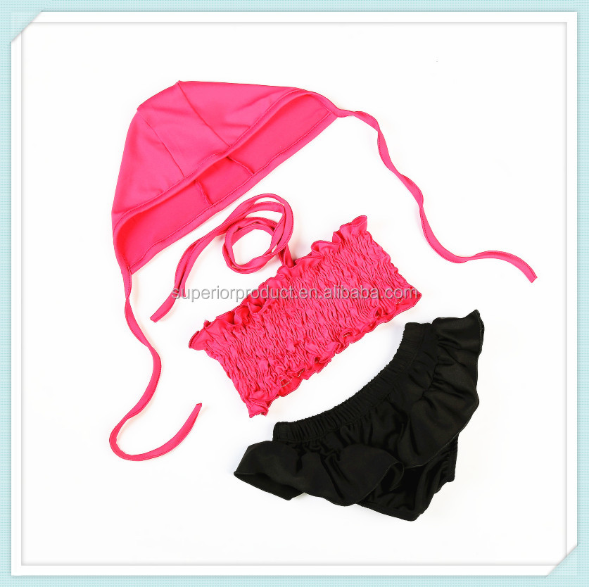 Baby Girl Swan Lace Swimwear Kids Summer Sequin Swimsuit Children 3 Pcs Sexy Bikini Girl Swimwear Suit With Hat