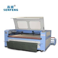 Co2 Laser Cutting Machine for Whole Piece of Cloth with Auto Feeding