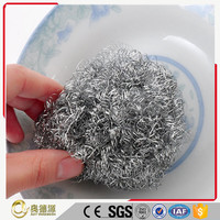 Factory increasingly export customized service and package silver iron sponge scourer / galvanized mesh scrubber