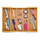 Classics Bamboo Expandable Make Up Drawer Organizer With Adjustable Divider Kitchen Tool Bamboo Drawer Organizer