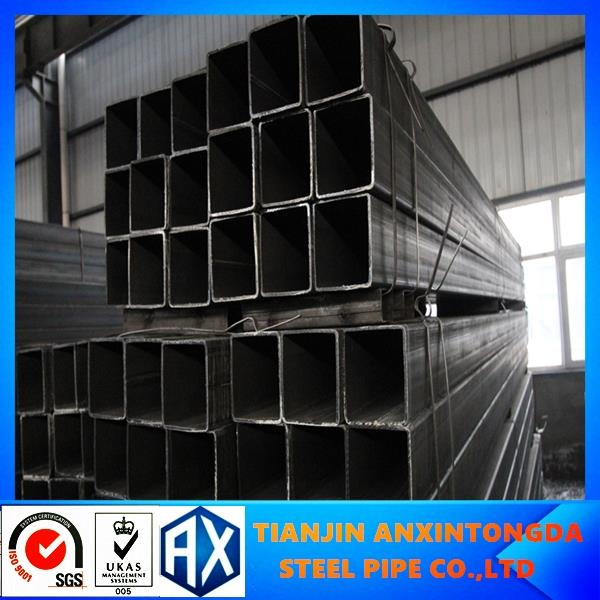 high quality black square hollow section!38*38 steel square pipe