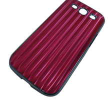 Aluminum material phone case, watt pattern phone shell, hard protective back cover for Samsung I9300