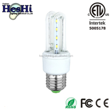 led foshan factory supply etl 12w 3U shape led energy saving lamp
