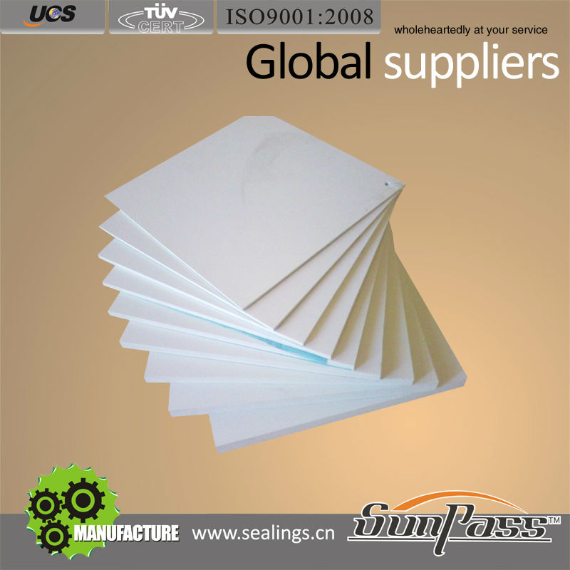 China Supplier Natural White Color PTFE Teflon Sheet Moulded PTFE Sheet