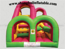 2016 Popular Inflatable playground outdoor/indoor inflatable playground and bouncer Inflatable maze/Obstacle course